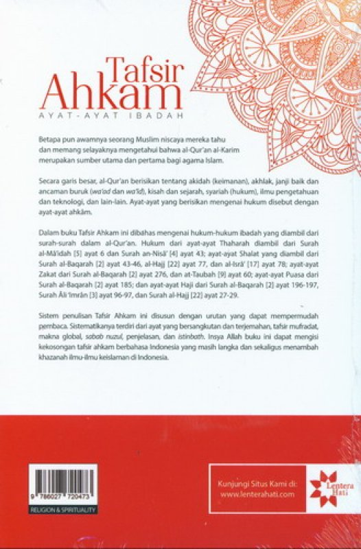 Cover Belakang Buku Tafsir Ahkam Ayat-Ayat Ibadah