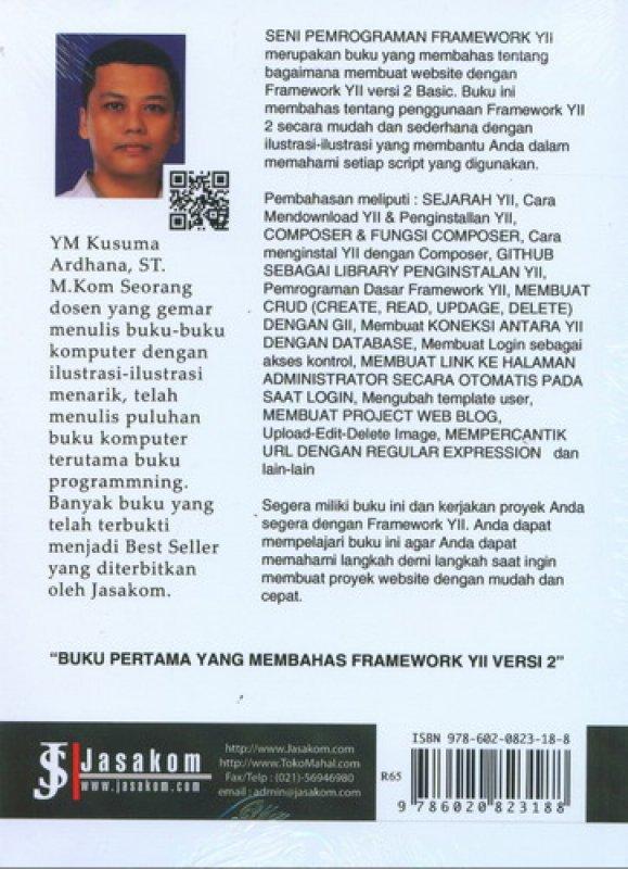 Cover Belakang Buku Framework php yii 2