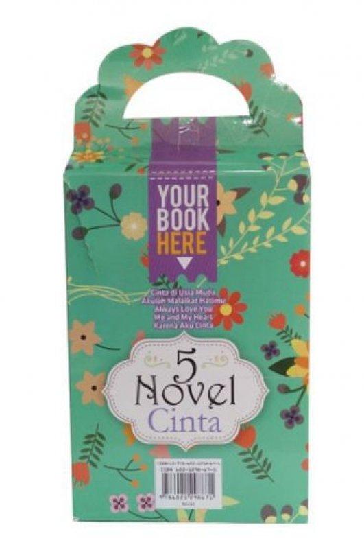 Cover Buku Box Paket 5 Novel Cinta