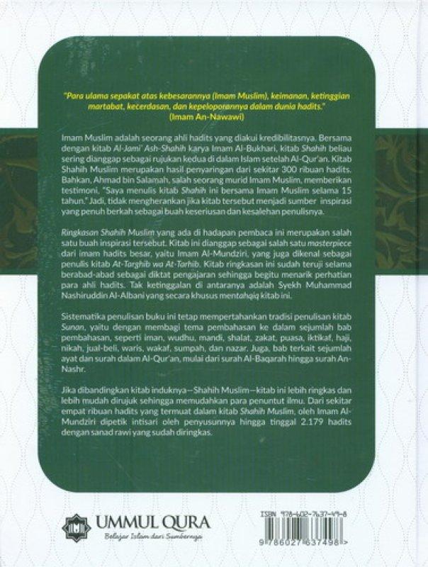 Cover Belakang Buku Mukhtashar Shahih Muslim
