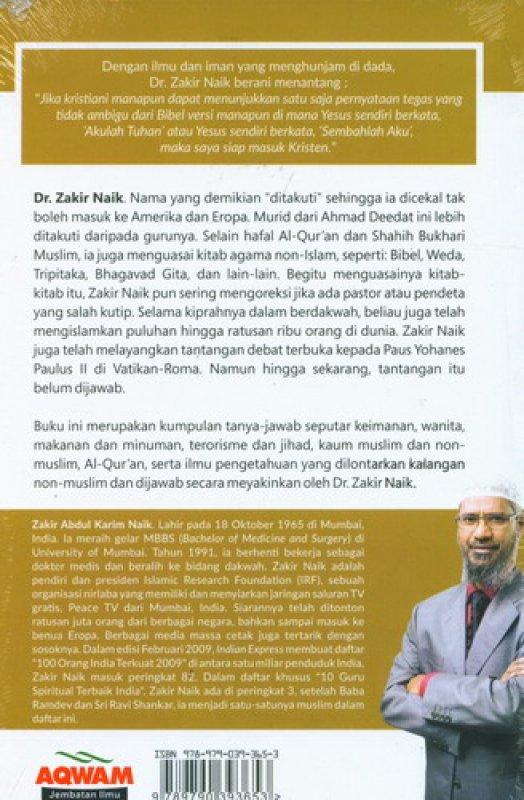 Cover Belakang Buku Debat Islam VS Non-Islam [Hard Cover]
