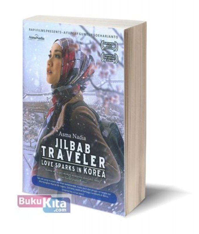 Cover Buku Jilbab Traveler: Love Sparks In Korea [cover film baru]