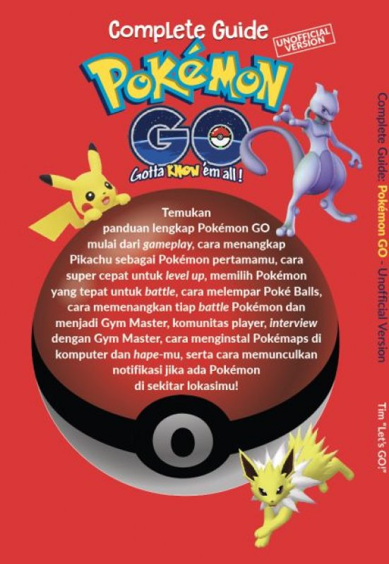 Cover Belakang Buku Complete Guide Pokemon Go [UNOFFICIAL VERSION]
