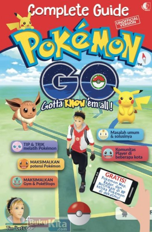 Cover Buku Complete Guide Pokemon Go [UNOFFICIAL VERSION]