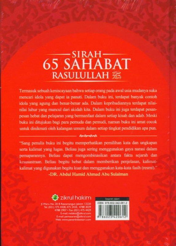 Cover Belakang Buku Sirah 65 Sahabat Rasulullah [Hard Cover]