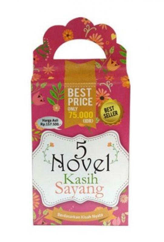 Cover Buku Box Paket 5 Novel Kasih Sayang