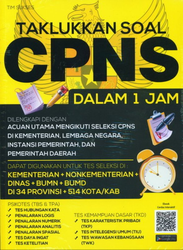 Cover Buku Taklukkan Soal CPNS Dalam 1 Jam