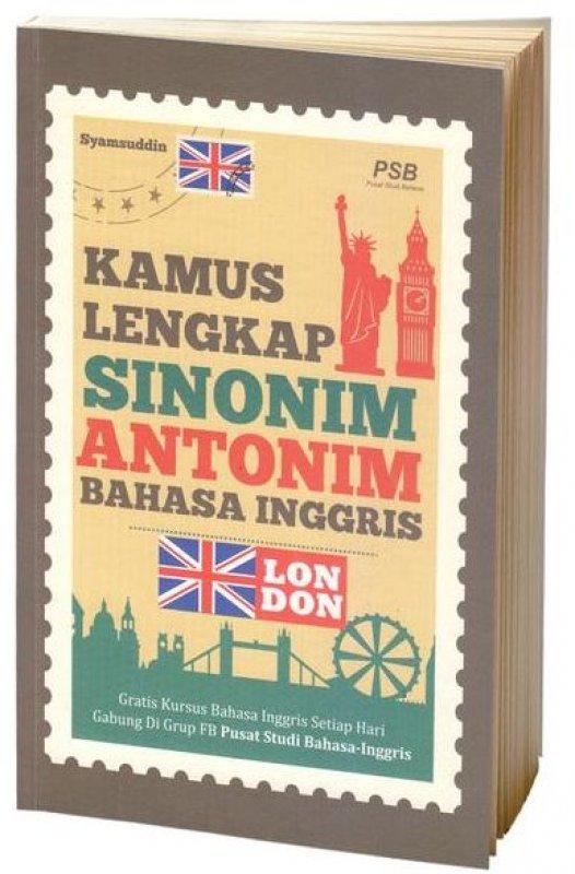 Cover Buku Kamus Lengkap Sinonim Antonim Bahasa Inggris