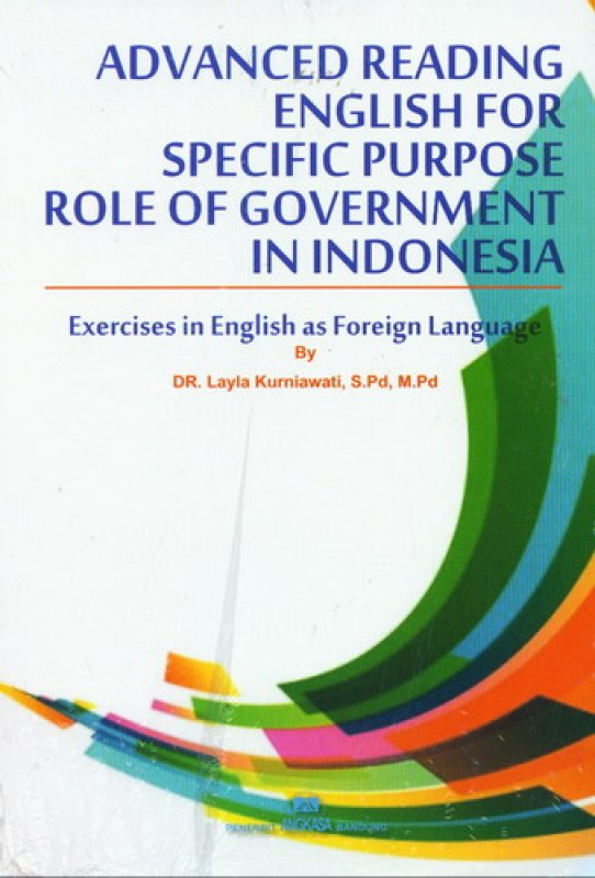 Cover Buku Advanced Reading English For Specific Purpose Role Of Government In Indonesia