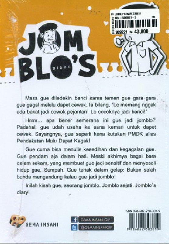 Cover Belakang Buku Jomblo s Diary