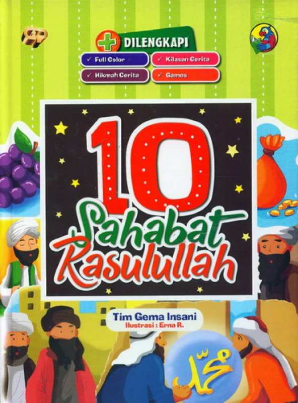 Cover Buku 10 Sahabat Rasulullah [Full Color]