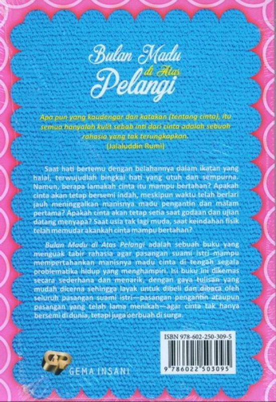 Cover Belakang Buku Bulan Madu di Atas Pelangi