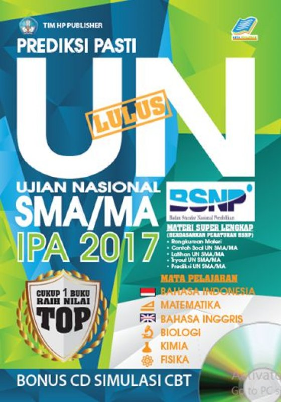 Cover Buku Prediksi Pasti Lulus UN SMA/MA IPA 2017 [Bonus CD SIMULASI CBT]