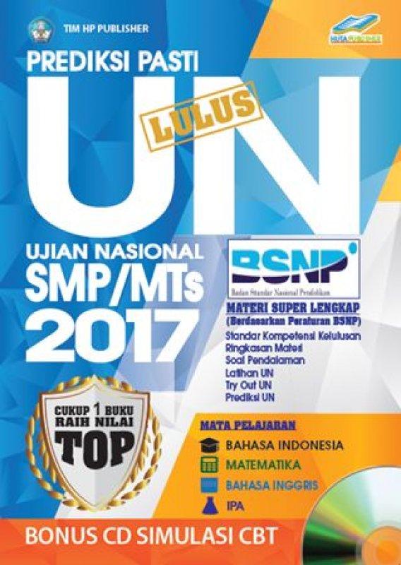 Cover Buku PREDIKSI PASTI LULUS UN SMP/MTs 2017 [Bonus CD SIMULASI CBT]