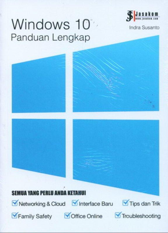 Cover Buku Panduan Lengkap Windows 10