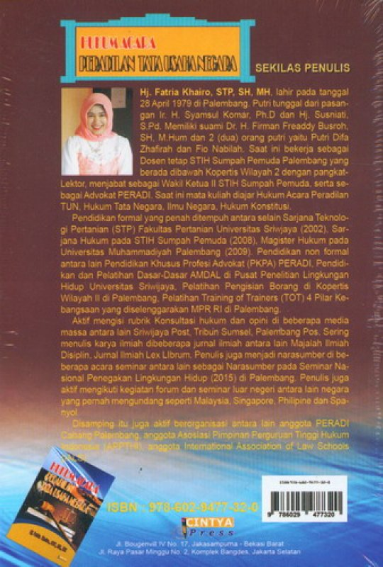 Cover Belakang Buku Hukum Acara Peradilan Tata Usaha Negara