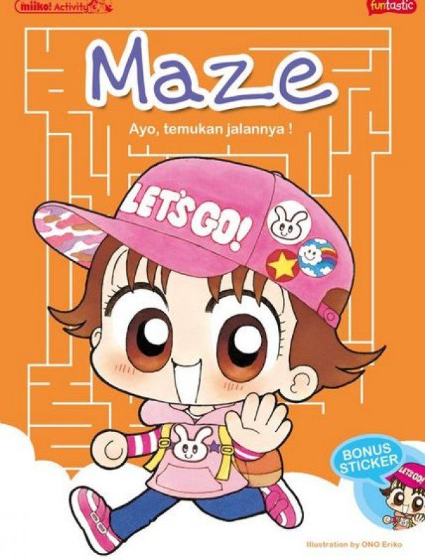 Cover Buku Miiko Activity - Maze