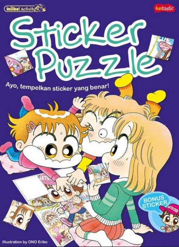 Cover Buku Miiko Activity - Sticker Puzzle