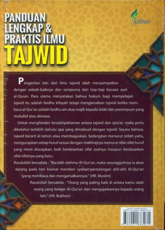 Cover Belakang Buku Panduan Lengkap & Praktis Ilmu Tajwid [HC]