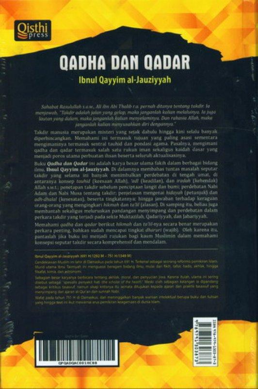 Cover Belakang Buku QADHA DAN QADAR