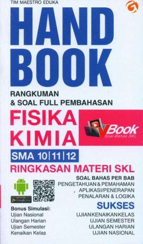Cover Buku Handbook Rangkuman & Soal Full Pembahasan FISIKA KIMIA SMA 10, 11, 12