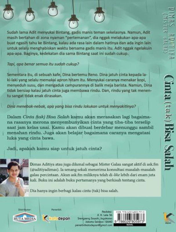 Cover Belakang Buku Cinta (tak) Bisa Salah