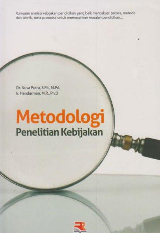 Cover Buku Metodologi Penelitian Kebijakan