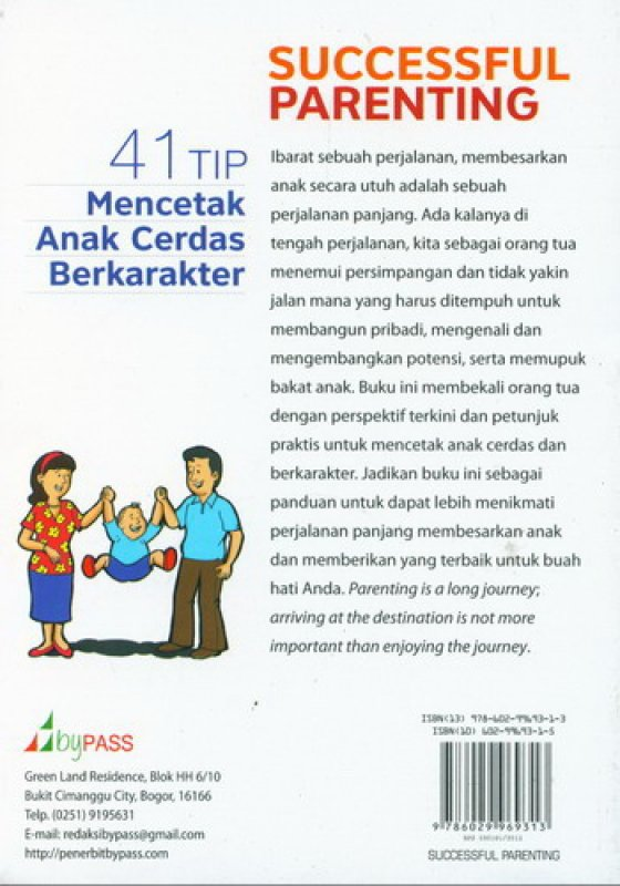 Cover Belakang Buku Successful Parenting ( bk )