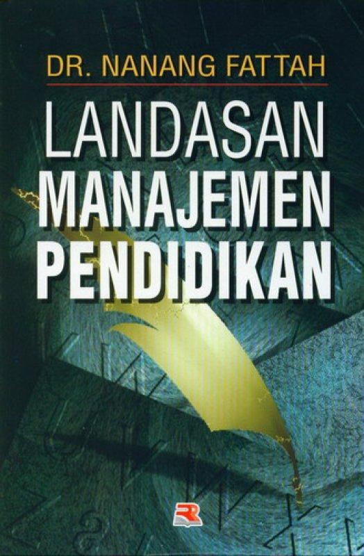 Cover Buku Landasan Manajemen Pendidikan