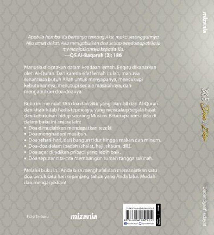 Cover Belakang Buku 365 Doa Dan Zikir - Hc (Republish)