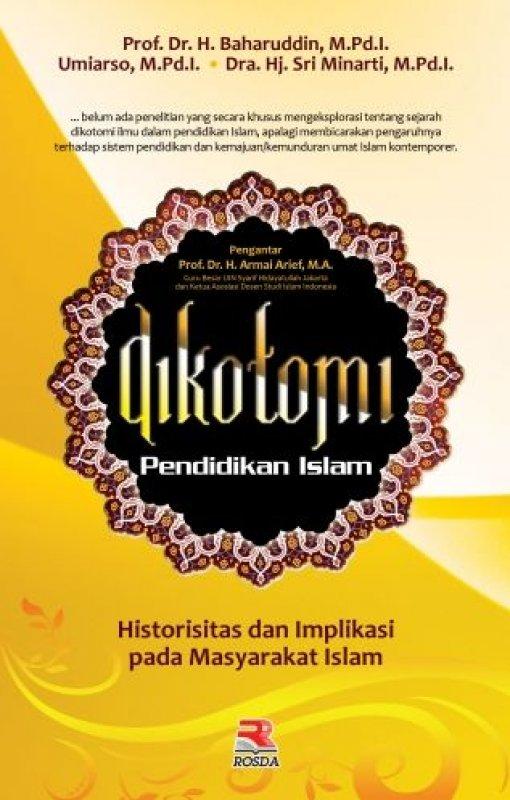 Cover Buku Dikotomi Pendidikan Islam