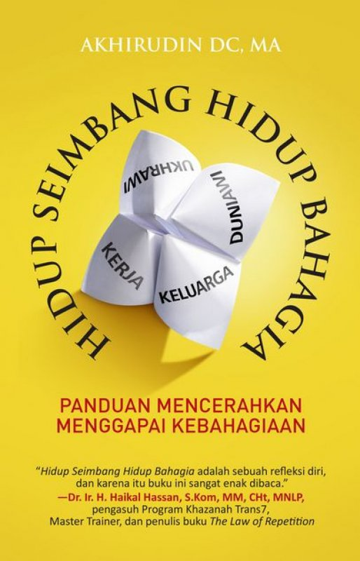 Cover Buku Hidup Seimbang Hidup Bahagia