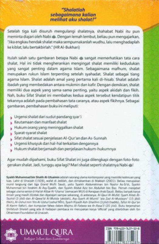 Cover Belakang Buku Sifat Shalat Nabi [Hard Cover]