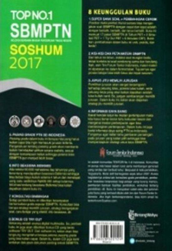 Cover Belakang Buku TOP NO. 1 SBMPTN SOSHUM (PLUS CD) 2017