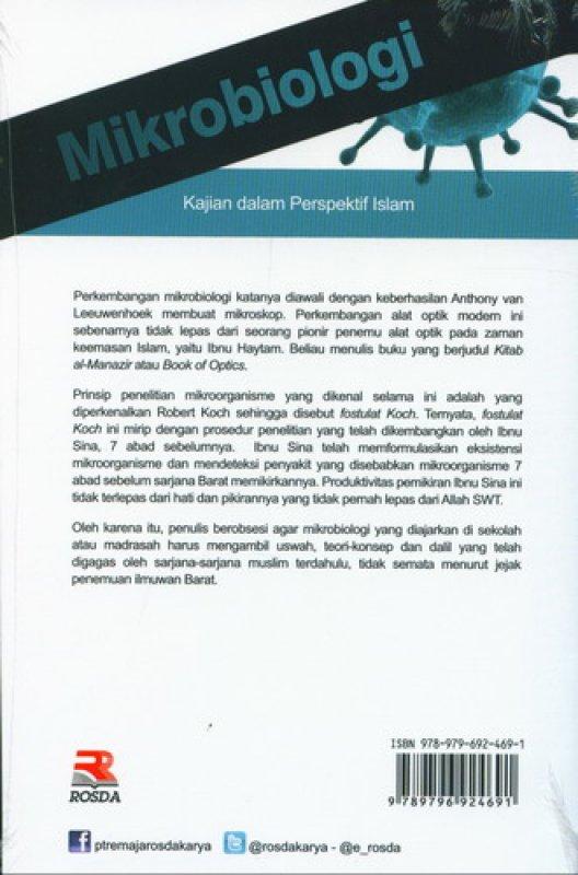 Cover Belakang Buku Mikrobiologi: Kajian dalam Perspektif Islam (Edisi Revisi)