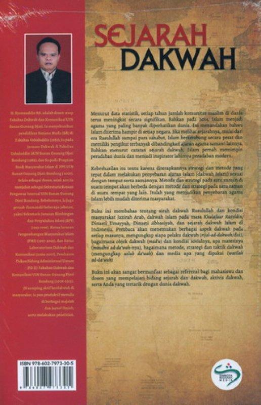 Cover Belakang Buku Sejarah Dakwah