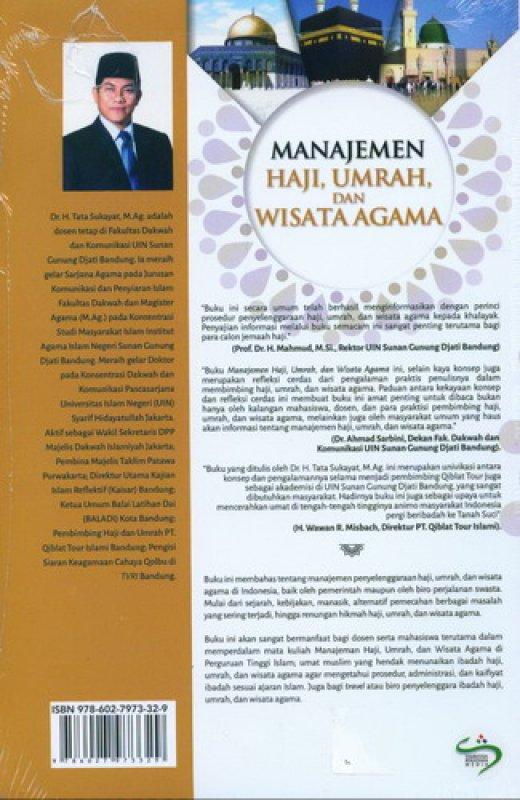 Cover Belakang Buku Manajemen Haji. Umrah. dan Wisata Agama