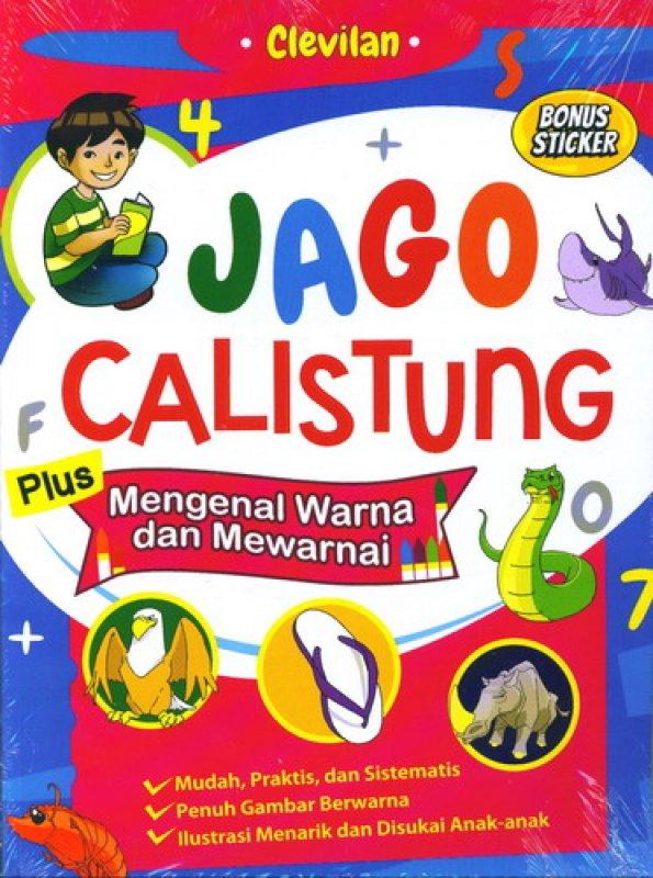 Cover Buku Jago Calistung Plus Mengenal Warna dan Mewarnai