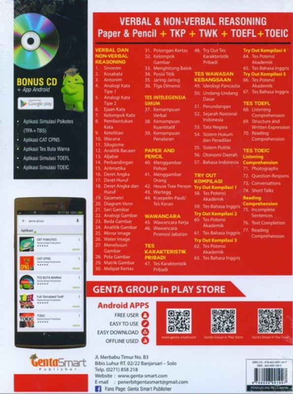 Cover Belakang Buku Panduan Sukses Psikotes [Bonus CD]