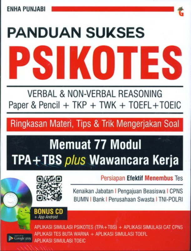 Cover Buku Panduan Sukses Psikotes [Bonus CD]