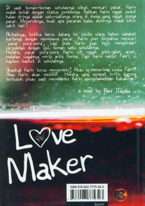 Cover Belakang Buku Love Maker