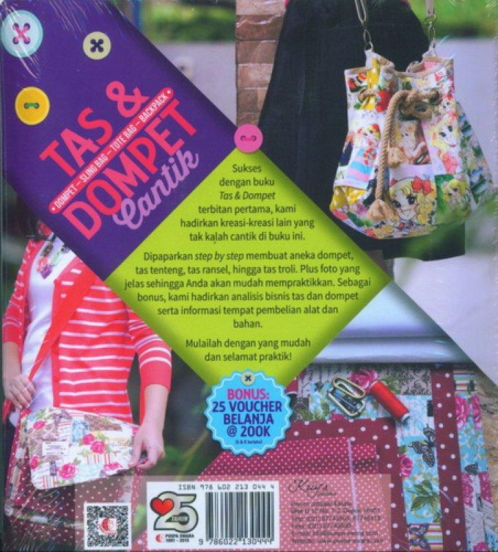 Cover Belakang Buku Tas & Dompet Cantik Plus Step by Step & Pola