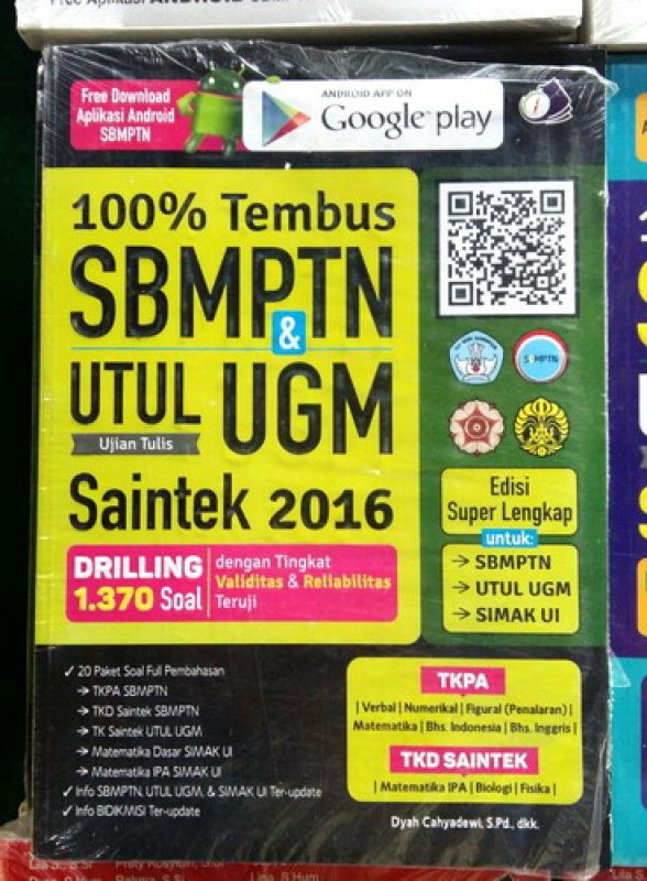 Cover Buku 100% Tembus SBMPTN & UTUL UGM SAINTEK 2016
