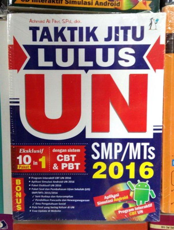 Cover Buku Taktik Jitu Lulus UN SMP/MTs 2016 [Bonus CD]