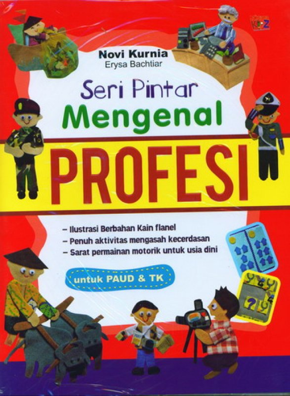 Cover Buku Seri Pintar Mengenal Profesi Untuk Paud Dan TK