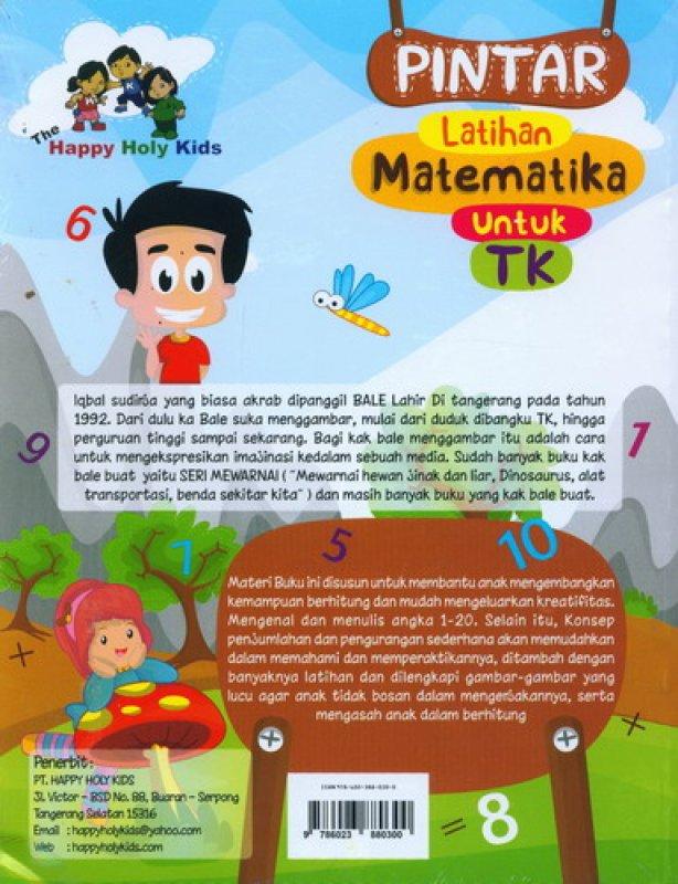Cover Belakang Buku Pintar Latihan Matematika Untuk TK