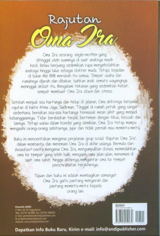 Cover Belakang Buku Rajutan Oma Ira [True Story]