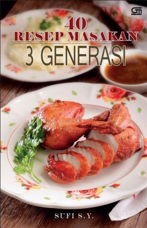 Cover Buku 40 Resep Masakan 3 Generasi
