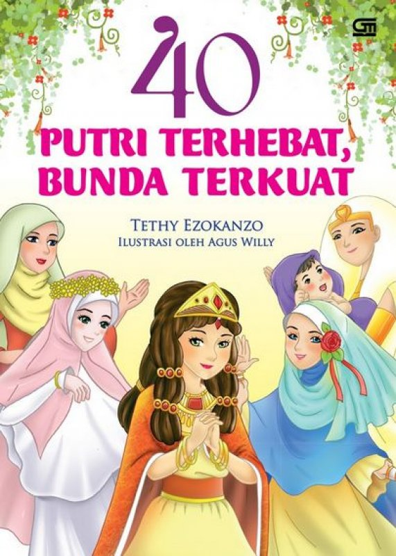 Cover Buku 40 Putri Terhebat, Bunda Terkuat (Cover Baru)