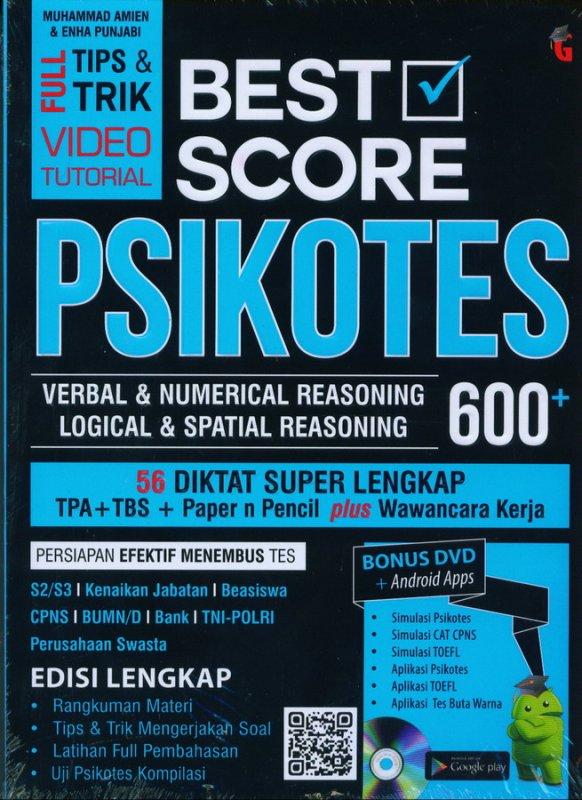 Cover Buku BEST SCORE PSIKOTES 600+